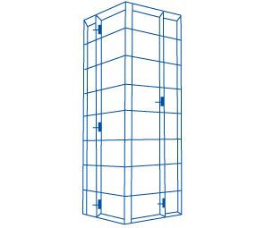 Para columna cuadrada